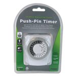 PRIME® Push-Pin Timer, 1 Outlet, 15 Amps, White