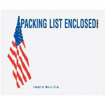 "Box Partners 4 1/2"" x 5 1/2"" w/ USA Flag ""Packing List Enclosed"" Panel Face"