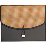 Paris Business Forms 13-Pocket Expanding File W/Elastic Close, Ltr, Brown/Brown Dot, 1/Each
