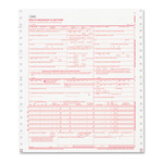 Paris Business Forms CMS Forms, 2 Part Continuous White/Canary, 9 1/2 x 11, 1000 Forms