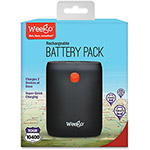 Weego Rechargeable Battery Pack Tour 10400, Black