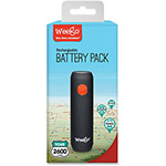Weego Compact Rechargeable Battery Pack Tour 2600, BK