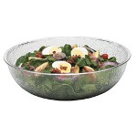 "Cambro Camwear Round Clear Pebbled Bowls, 12"" Diameter"