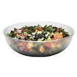 "Cambro Camwear Round Clear Pebbled Bowls, 15"" Diameter"