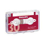 Philips Speech Processing Audio & Dictation Mini Cassette, 30 Minutes (15 x 2), 10/Pack