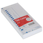 Pyramid Time Cards, f/Time Recorder, 100/PK, Black