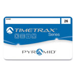 Pyramid Time Recorder Timecards, 26-50, Series 8000 Recorder, 25/Pack