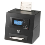 "Pyramid Heavy Duty Time Clock, Top Load, 8-3/4"" x 7-1/2"" x 7-1/4"", Black"