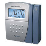 Pyramid EZ Time/Attendance System, 25 Bdgs, 50' Cable, Software, Silver/Blue