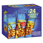 Planters® Variety Pack Peanuts & Cashews, 1.75 oz/1.5 oz Bag, 24/Box