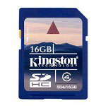 Kingston Flash Memory Card - 16 GB - SDHC