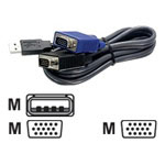 Trendnet TK CU15 - Keyboard / Video / Mouse (KVM) Cable - 15 Ft