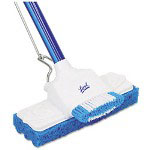 "Quickie Sponge Mop, 9"" Sponge, 48"" Steel Handle, Blue, Each"