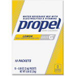 Propel Powder Packs, .08oz., 10Pks, 12BX/CT, Lemon/YW