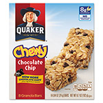 Quaker Foods Granola Bars, Chewy Chocolate Chip, .84 oz Bar, 8/Box