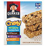 Quaker Foods Granola Bars, Chewy Variety Pack, .84oz Bar, 8/Box, 12 Boxes/Carton