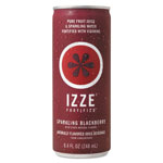 IZZE Fortified Sparkling Juice, Blackberry, 8.4 oz Can, 24/Carton