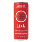 IZZE Fortified Sparkling Juice, Pomegranate, 8.4 oz Can, 24/Carton