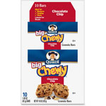 Quaker Foods Chocolate Chip Chewy Granola Bar, 1.48oz., 10/BX, Multi