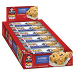 Quaker Foods Chewy Yogurt Granola Bars, 1.23 oz Bar, Blueberry, 12/Box