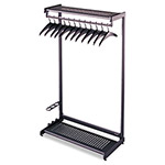 Quartet® SingleSided 2Shelf Steel Garment Rack, 8 Hangers, 24wx181/2d x611/2h, Black