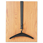 Quartet® Over The Door Double Hook with 2 Hangers, Black Steel