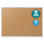 Quartet® Cork Bulletin Board with Anodized Aluminum Frame, 72w x 48h