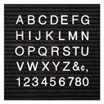 "Quartet Plastic 1"" Helvetica Characters for Grooved Felt Boards, 300/Set, White"