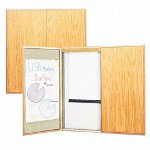 "Quartet Wood Conference Cabinet with Screen, Dry Erase Board, 48""sq., Oak"