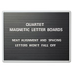 Quartet Magnetic Wall Mount Letter Board, 36wx24h, Black, Gray Aluminum Frame