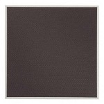 Quartet Bulletin Board, Slim Profile Aluminum Frame, 23 x 23, Woven Gray Fabric