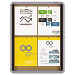 Quartet® Enclosed Cork Bulletin Board w/Swing Door, 21 x 27, Silver Aluminum Frame