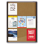Quartet® Enclosed Cork Bulletin Board w/Swing Door, 30 x 39, Silver Aluminum Frame
