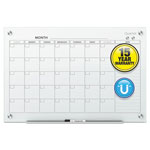 Quartet Infinity Magnetic Glass Calendar Board, 48 x 36