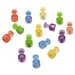 "Quartet Magnetic ""Push Pins"" for Magnetic Planning Boards, Assorted Colors, 20/Pack"