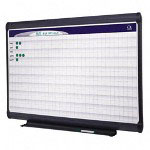 Quartet Magnetic Porcelain Planning System, 1 x 1 Grid, 48 x 36