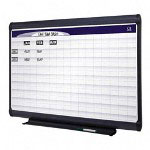 Quartet Magnetic Porcelain Planning System, 1 x 2 Grid, 48 x 36
