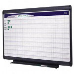 Quartet Magnetic Porcelain Planning System, 1 x 2 Grid, 72 x 48