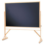 Quartet® Reversible Chalkboard With Hardwood Frame, 48 x 72