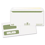 Quality Park Sugarcane Paper Double Window Envelopes, #9, Gummed, White