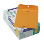 Quality Park Clasp Envelopes, Kraft, 28 lb., 7 1/2 x 10 1/2, 100/Box