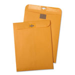 Quality Park Postage Saving Clear-Clasp Kraft Envelopes, 6 x 9, Light Brown, 100/Box