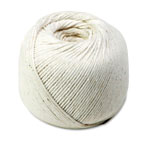 Quality Park White Cotton 10 Ply (Medium) String in Ball, 475 Feet