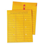 Rogers Interoffice Envelopes Box Style Kraft String Tie Printed 2 Sides, 10x13, 100/Ctn