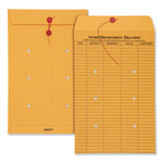 Quality Park Interoffice Envelopes, Kraft String Tie, Printed One Side, 10 x 15, 100/Ctn