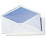 Quality Park White Wove Security Envelopes, 20 lb, #10, 4 1/8 x 9 1/2, 40/Box