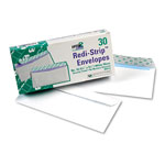 Quality Park Redi Strip™ Envelopes, White, #10, 4 1/8 x 9 1/2, 30/Box