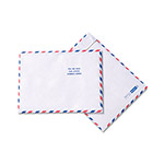 Quality Park DuPont™ Tyvek® Airmail Envelopes, White, Red & Blue Border, 100/Box, 10 x 13