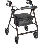 Drive Medical Four Wheel Rollator, Black