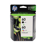 HP 60 Black / Cyan / Magenta / Yellow Inkjet Cartridge, Model CD947FN140